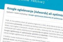 Adwords ali optimizacija
