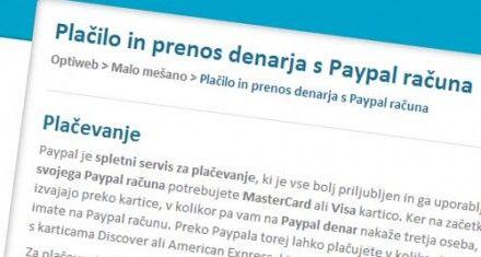 Prenos iz Paypal-a