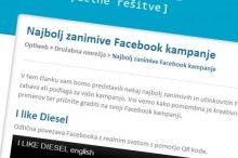 Zanimive Facebook kampanje