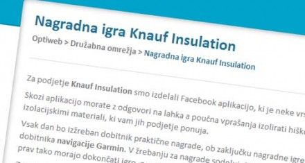 FB aplikacija - Knauf Insulation