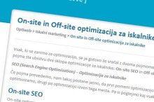 On-site in off-site optimizacija
