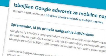 Adwords mobilni telefoni