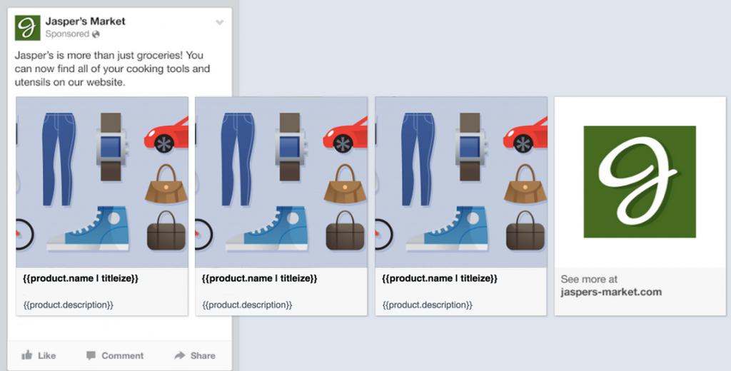 Primer prikaza facebook pixel oglasov
