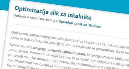 Optimizacija Slik Za Iskalnike Optiweb