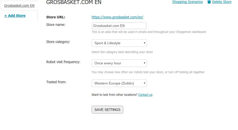 Shoppimon.com - primer spletne trgovine