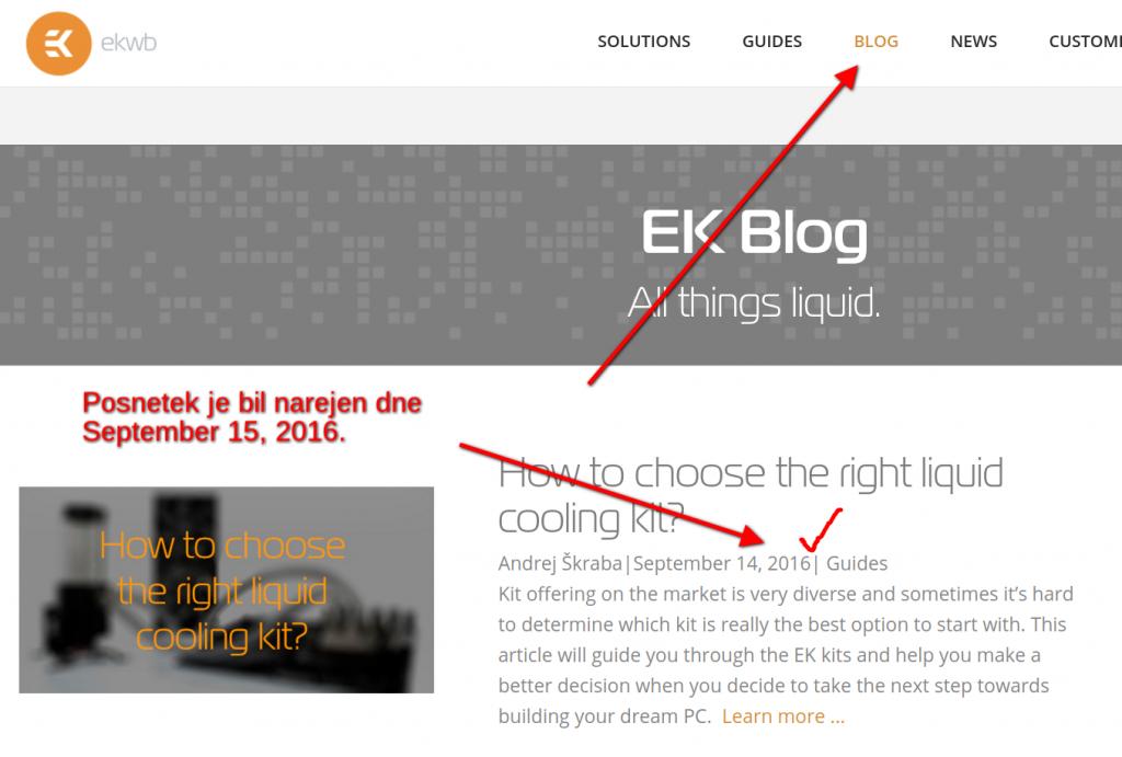 EKWB – primer dobrega bloga