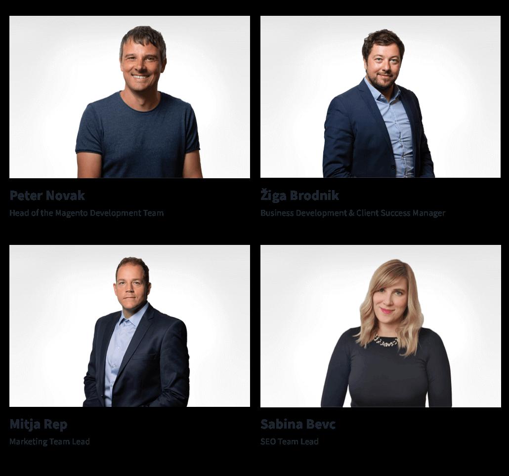 Team leaders in Optiweb.