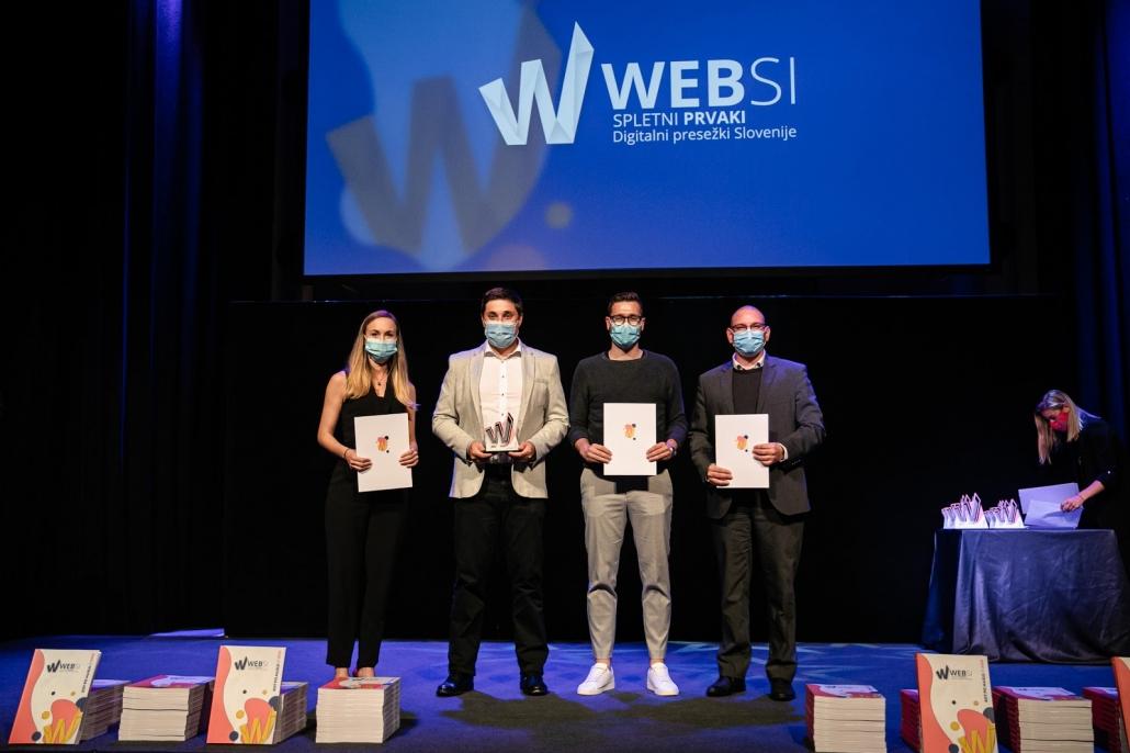 Dobili smo 4 nagrade Websi za naj projekt leta 2020.