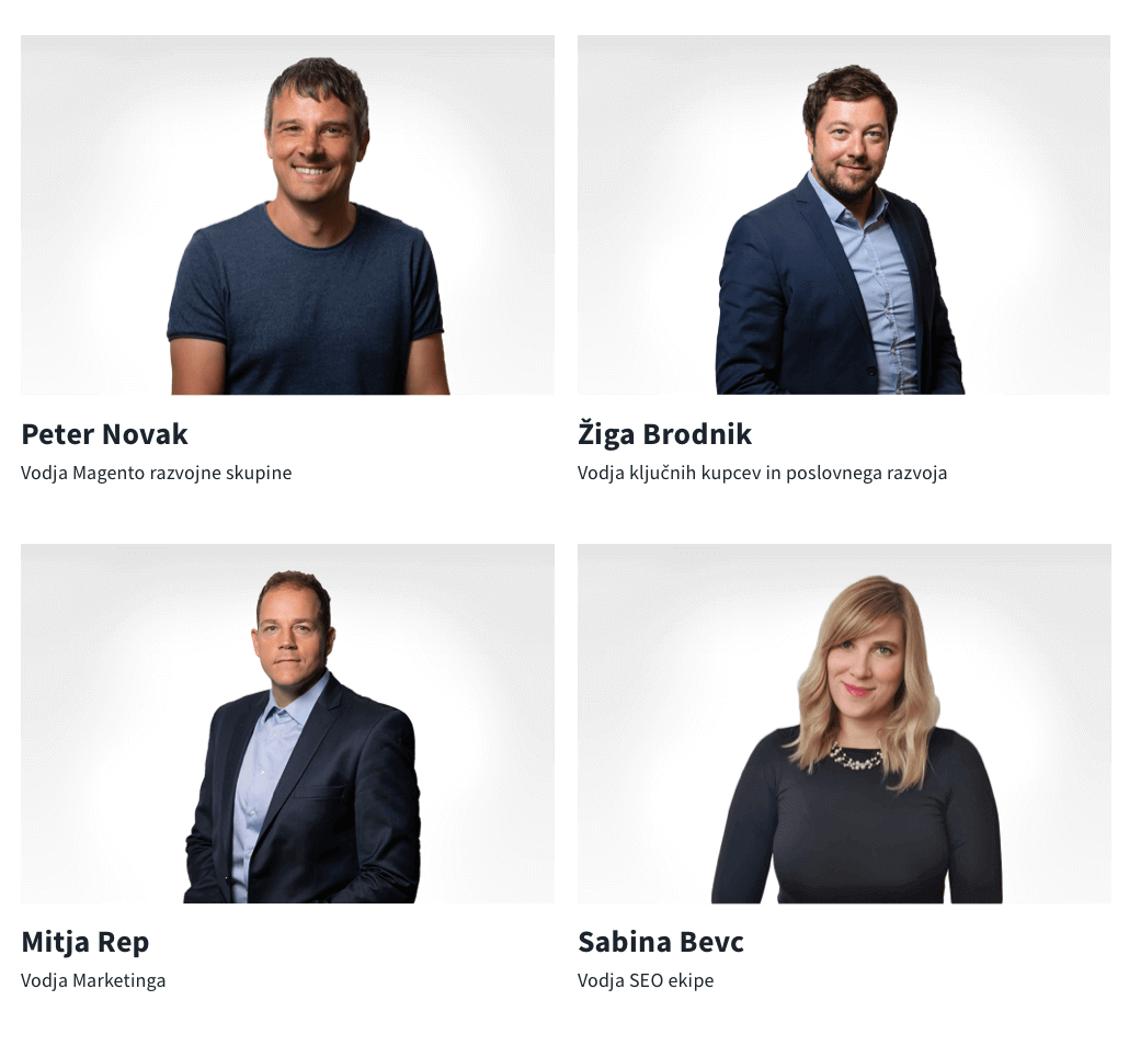 Nove vodje ekip na Optiwebu.